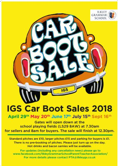 Ilkley Grammar School PTA Car Boot