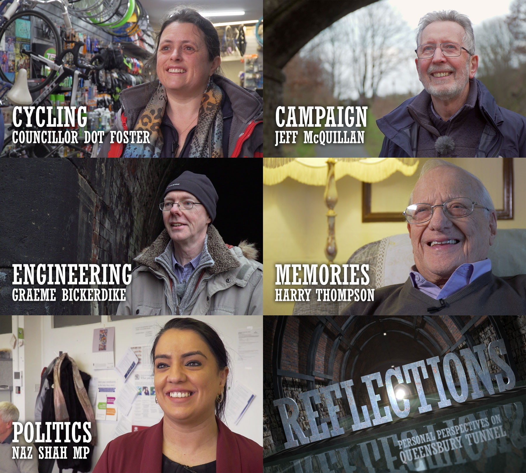 Five videos have been produced as part of the tunnel campaign