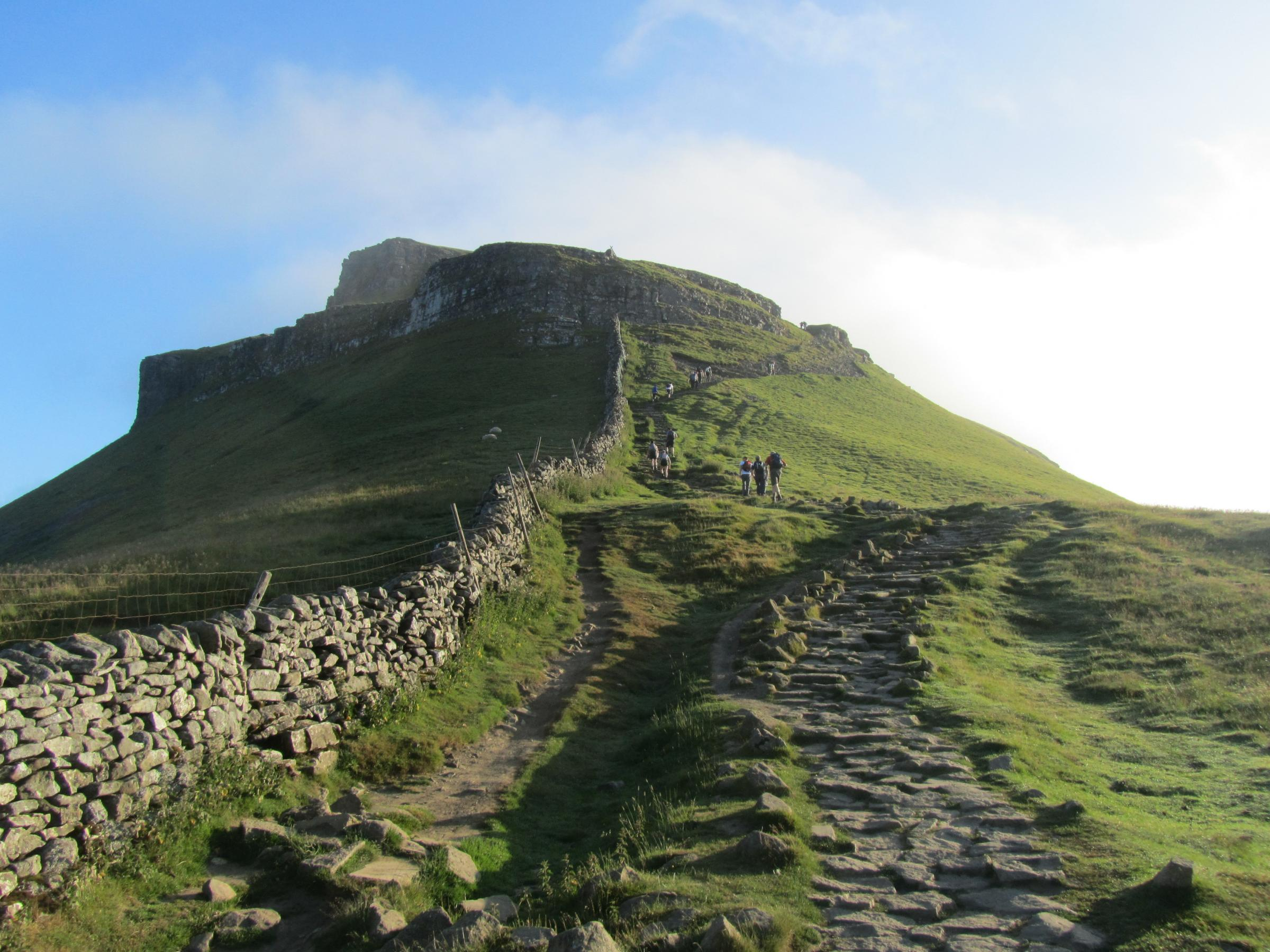 Walkers make their way up Pern-y-ghent.