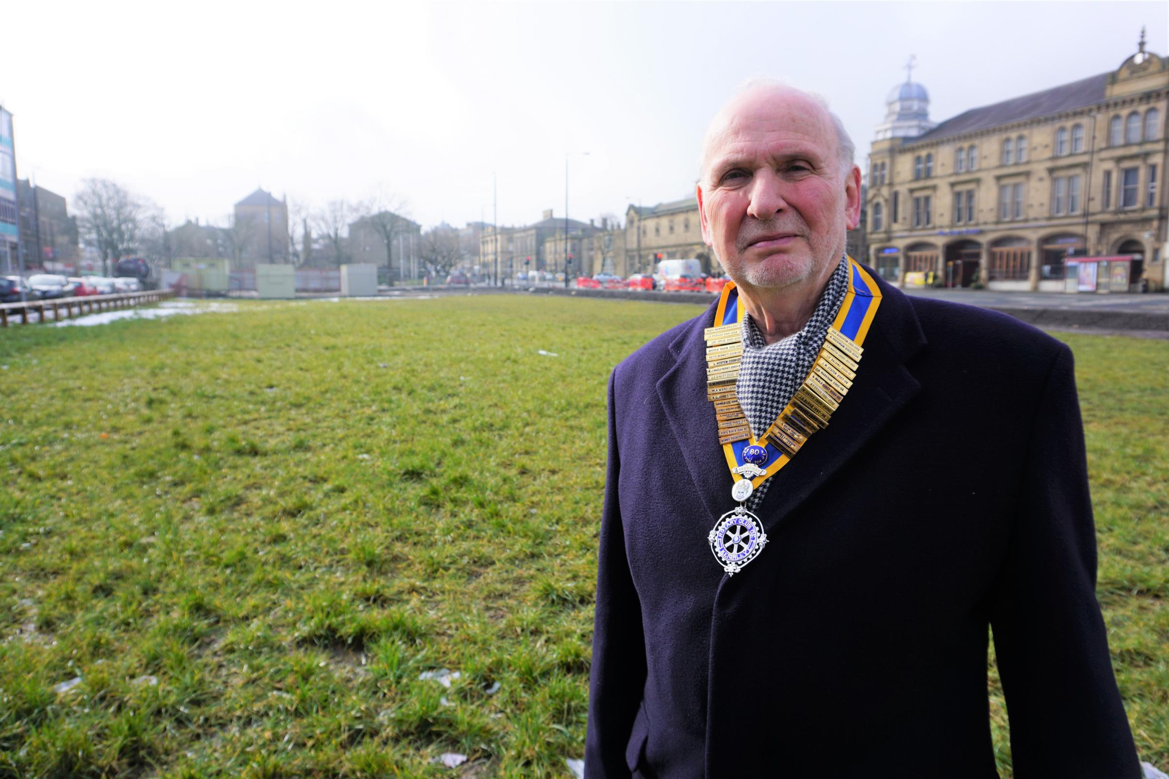 Chris Pickles, president of Keighley Rotary Club, at the site