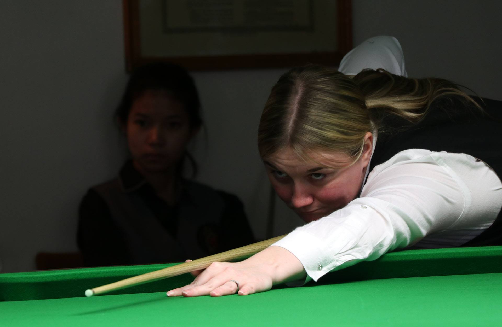Keighley's Rebecca Kenna, on her way to the British Open semi-finals last month, reckons that there are five players who could win the Women's World Championships Picture: WLBS