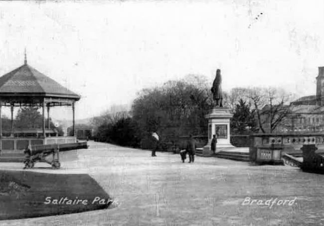 Historic view of Roberts Park at Saltaire, where one of the walks passes