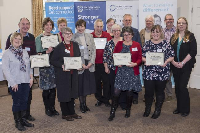 Representatives of community libraries are recognised for their achievements during the summer reading challenge last year