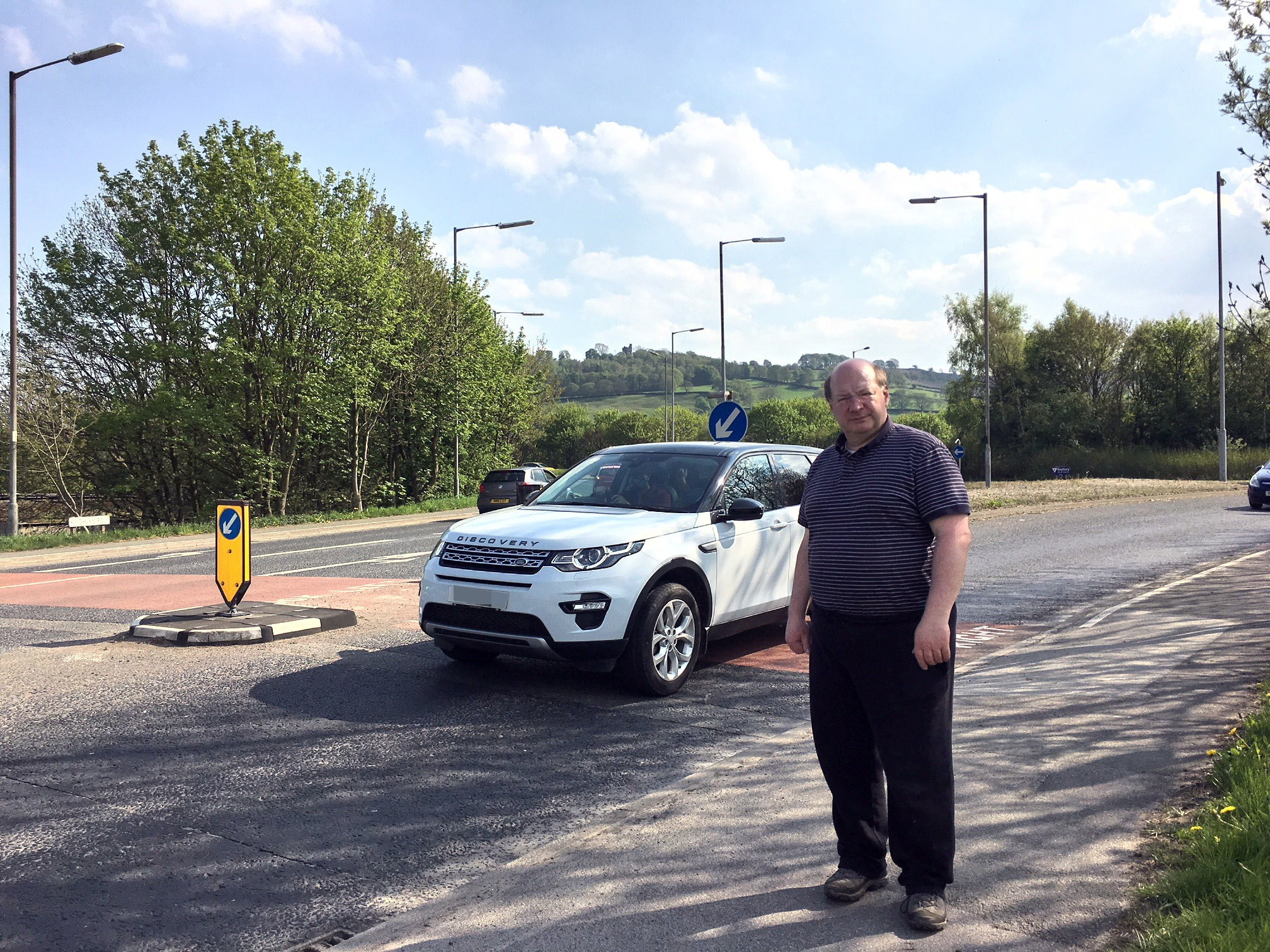 Councillor Adrian Naylor at the site of the proposed footbridge between Silsden and Steeton