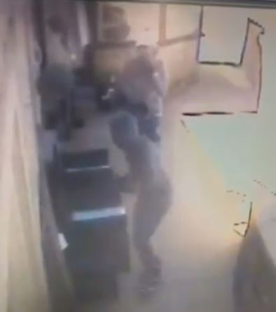 CCTV footage of the break-in at Firbeck, Harden