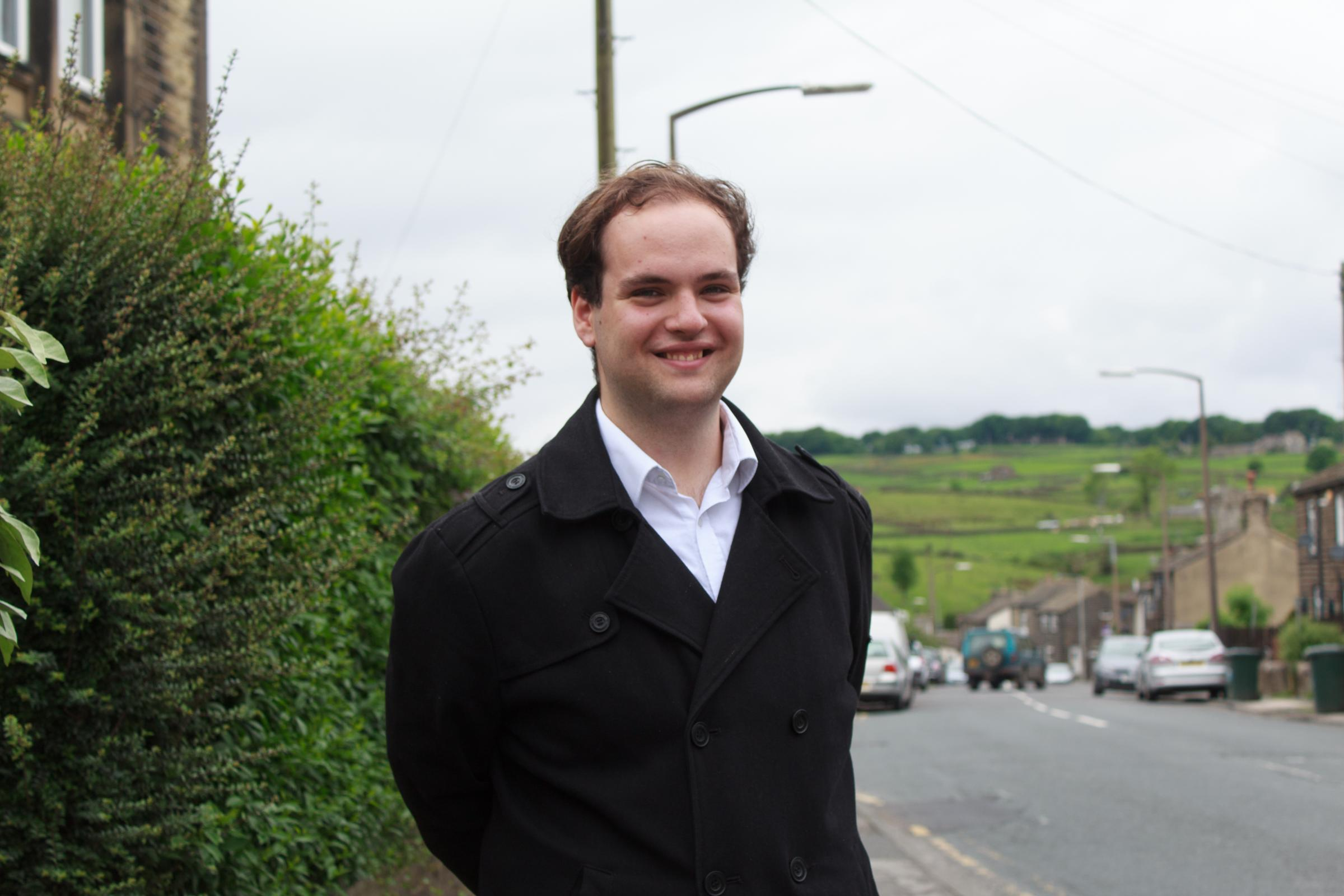 Councillor Luke Maunsell, of Keighley Town Council's Oakworth ward