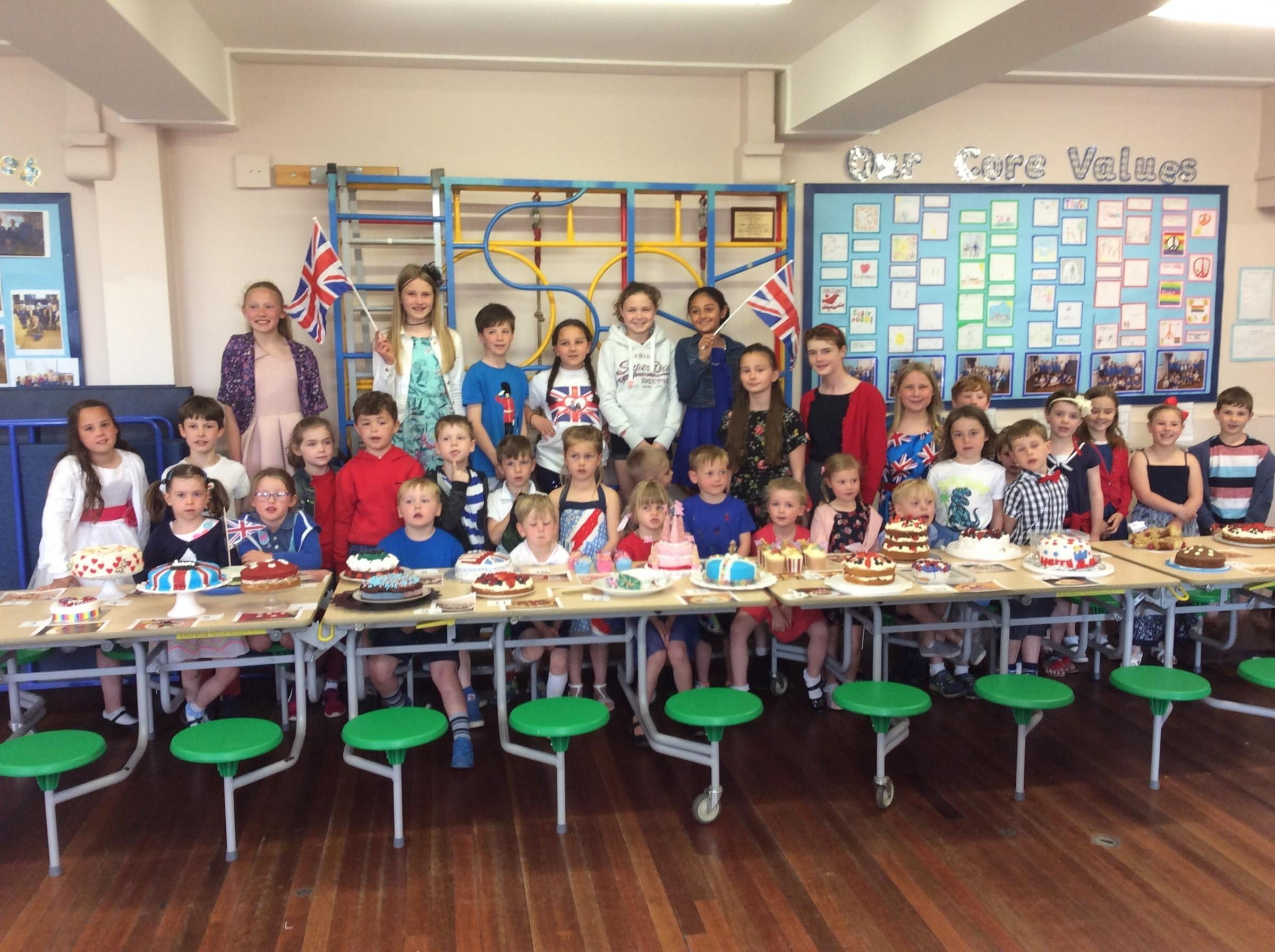 Kildwick Primary School celebrated the Royal Wedding on Friday