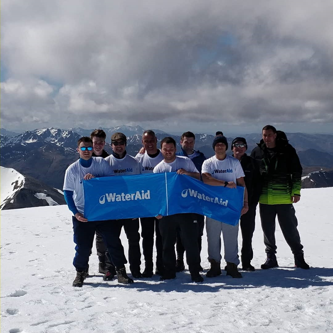 The Yorkshire Water team conquers Ben Nevis