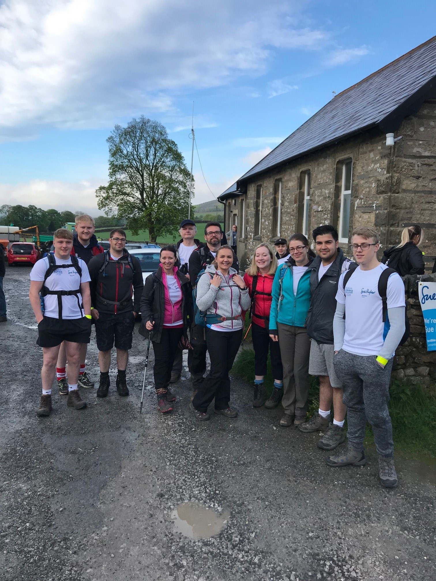 The Watson Buckle team sets off on its Yorkshire Three Peaks challenge