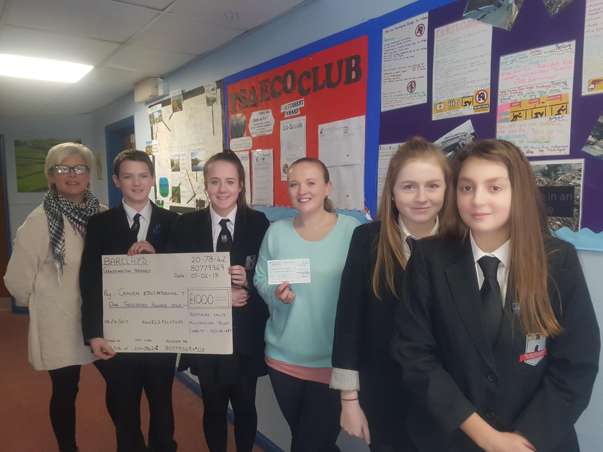 Youngsters receive a Youth Environmental Action Fund grant