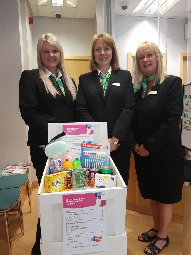 Building Society Backs Keighley Salvation Army Foodbank