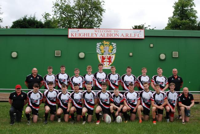 Keighley Albion's U18s team secured an emphatic away victory at Cutsyke Raiders at the weekend Picture: John Normington