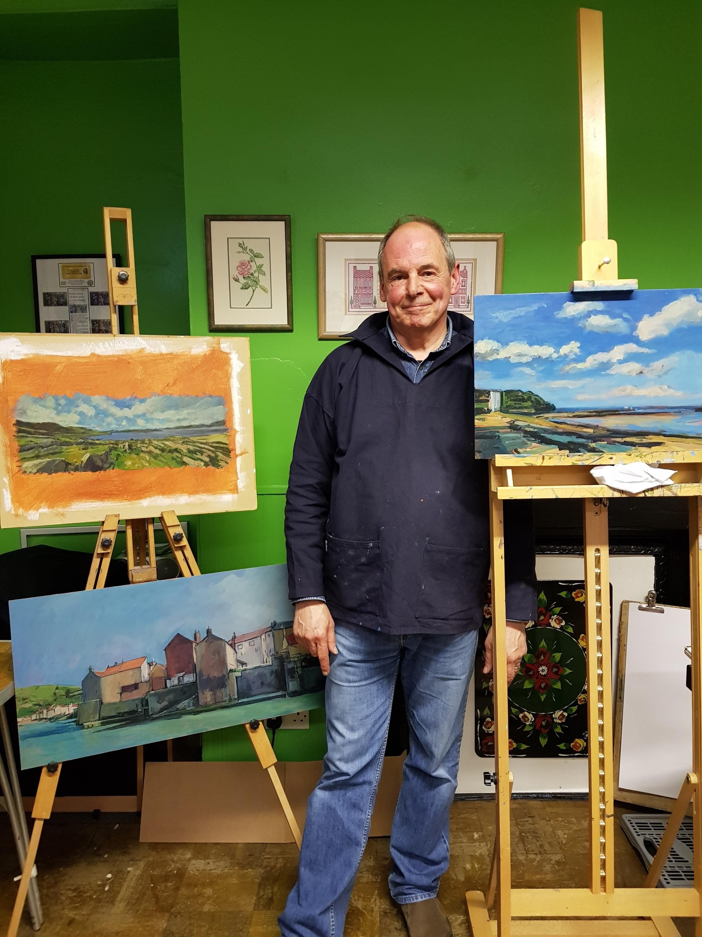 Nigel Overton was the guest of Keighley Art Club.