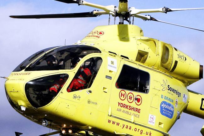 Air ambulance called to Haworth after a fall