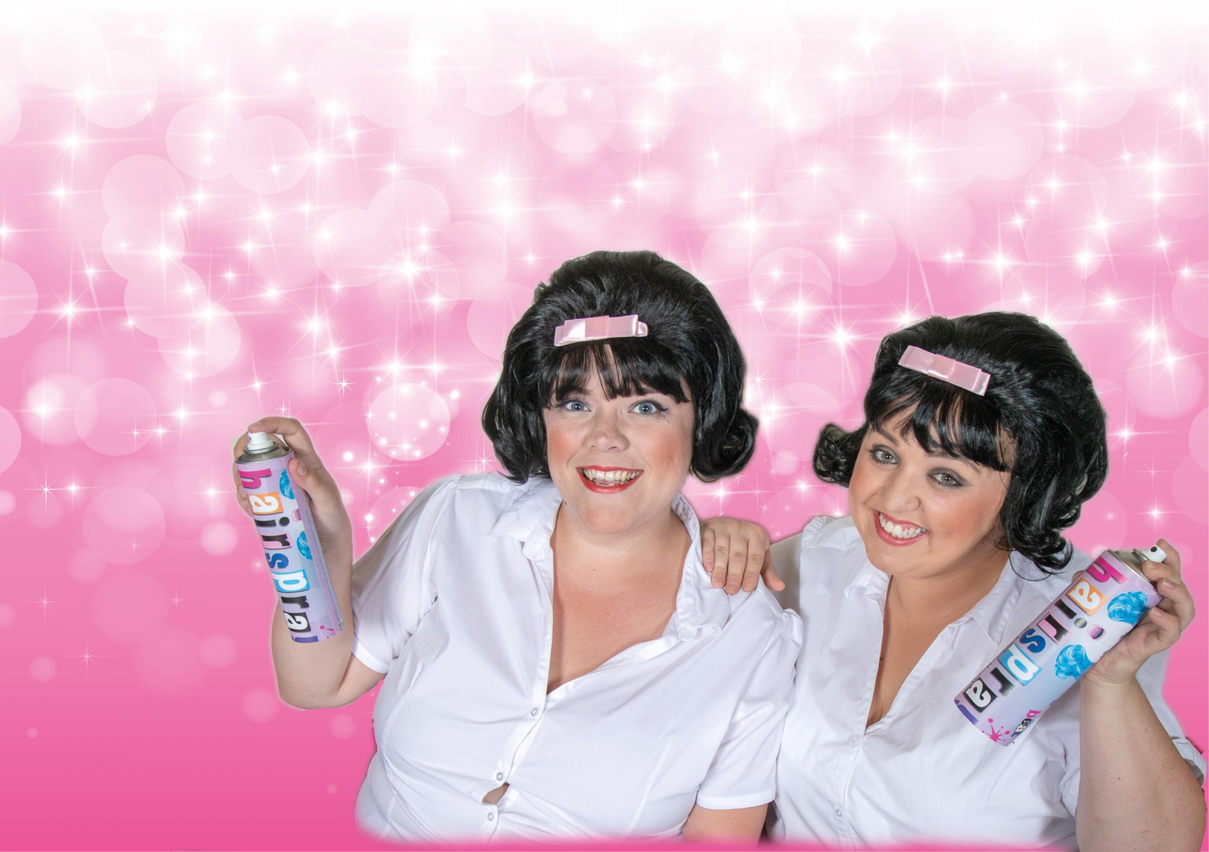 Vickie Hawkins and Leah Ogrizovic-Kerr both play Tracy Turnblad in the Keighley Musical Theatre Company production of the musical Hairspray