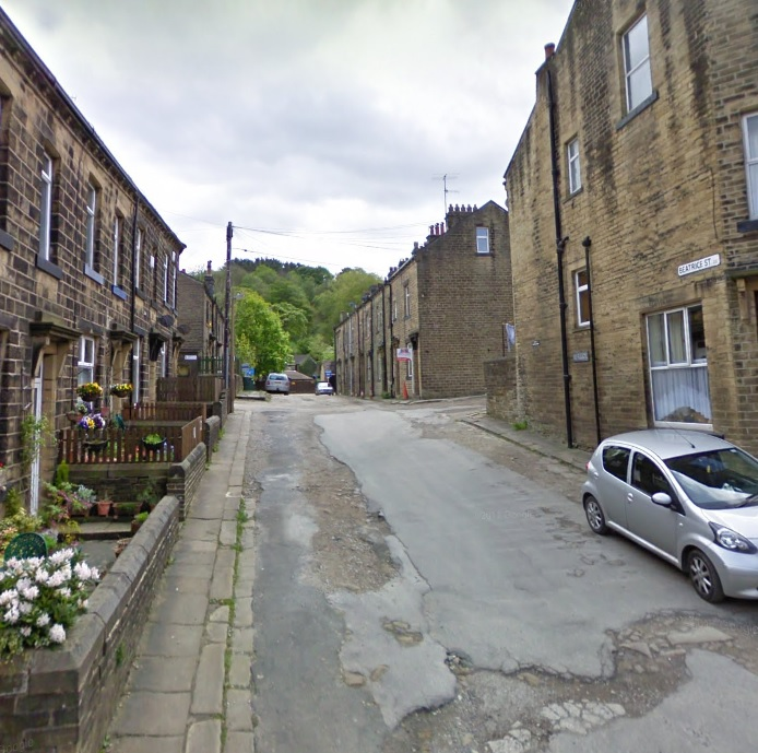 Beatrice Street, in Oxenhope. Image from Google Street View.