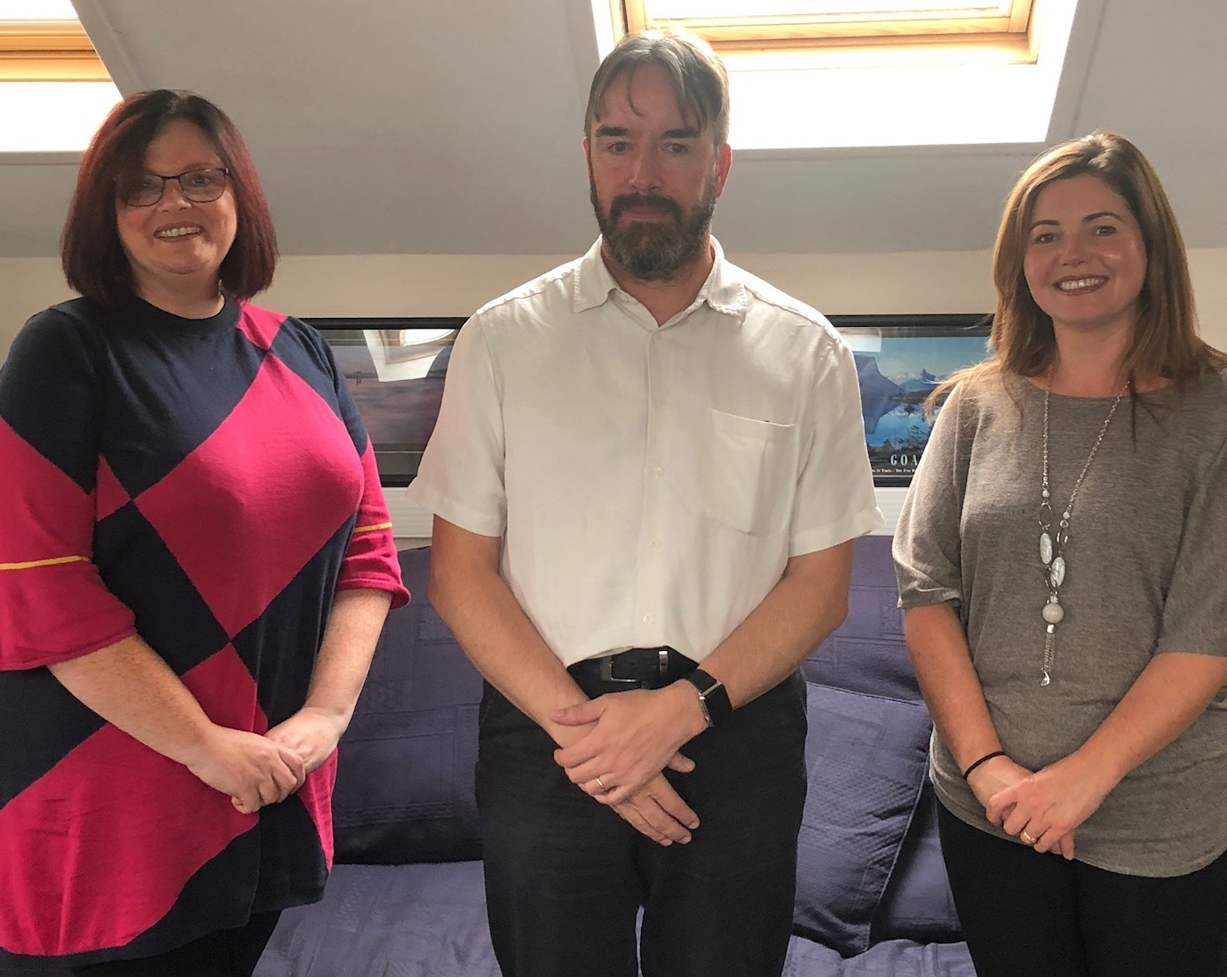 Staff from the Affinity Care anticoagulation team, from left, Berni Cahill, assistant practitioner in cardiology, Dr Matt Fay, GP and clinical chief executive of Affinity Care and Jane Patrickson, practice nurse