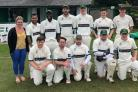 Denholme cricketers line-up