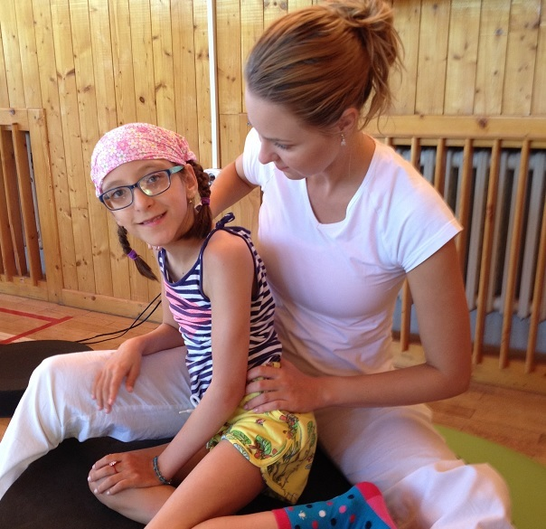 Charlotte Wormald, 11, undergoing specialist therapy in the Czech Republic