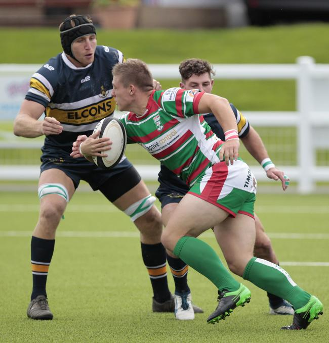 Jake Duxbury scored a try in Keighley's 20-14 defeat to Selby in Yorkshire One. Picture: Charlie Perry