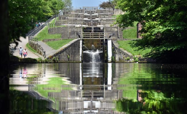 Bingley's five rise locks.