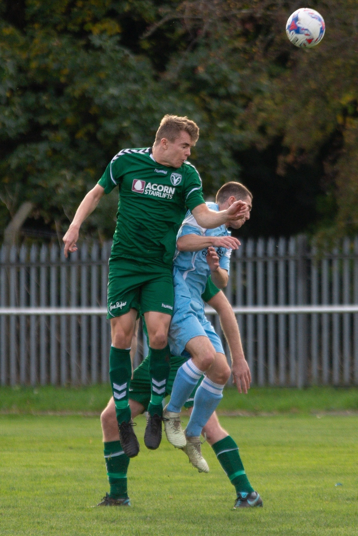 Steeton's Alistair Morgan in action against Maine Road. Picture: John Chapman
