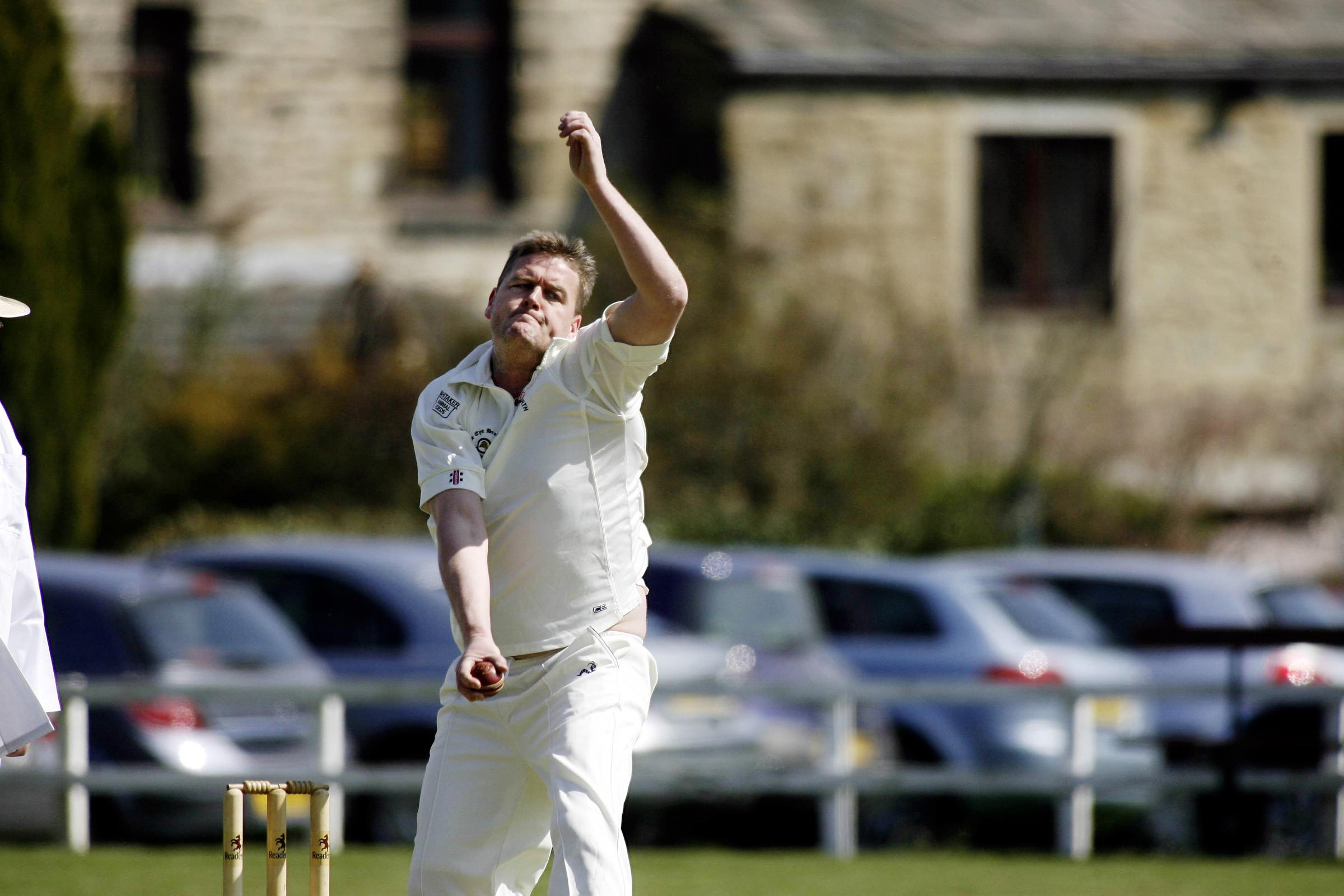 Haworth's Damian Rowell won the Craven League's Division One bowling award