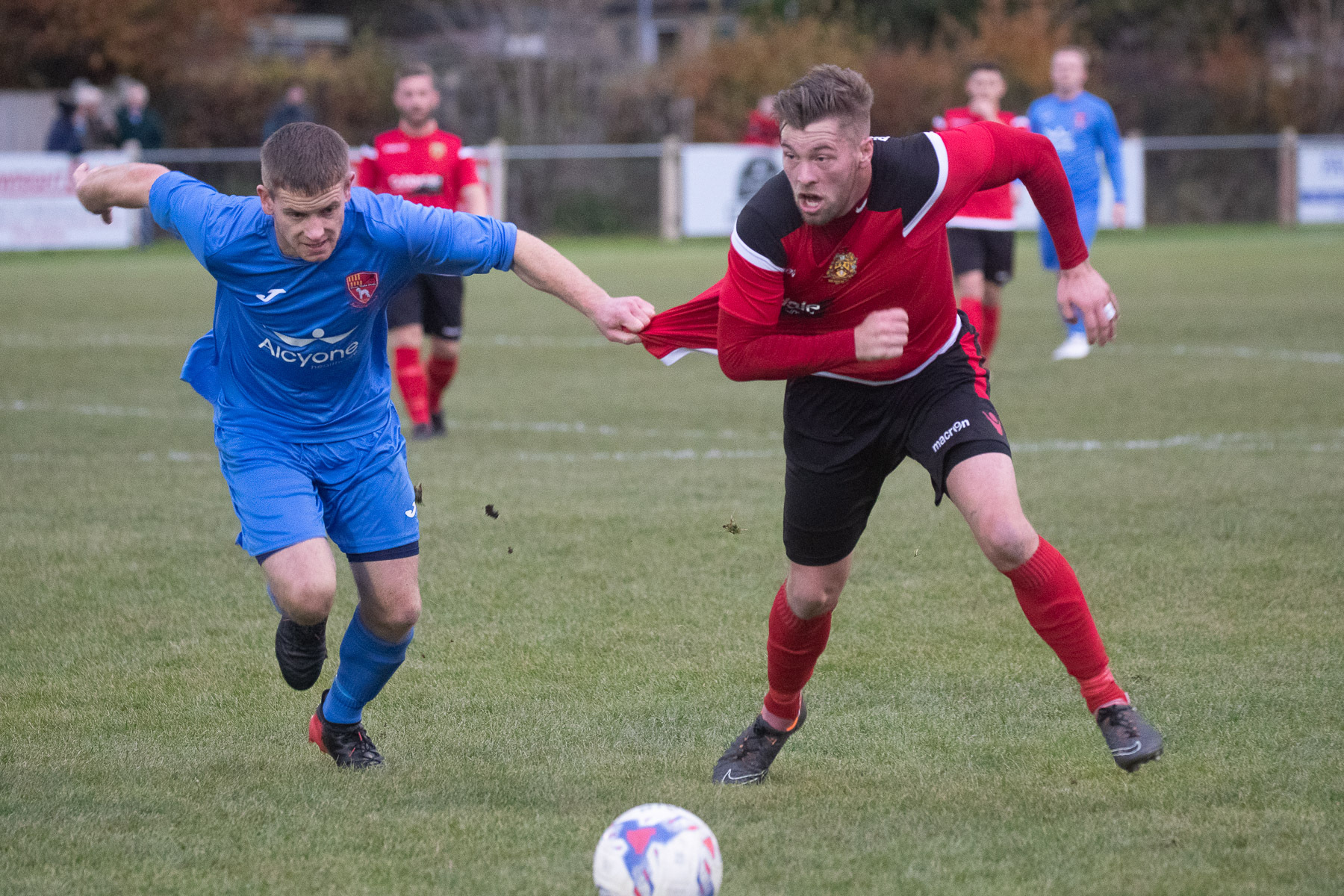 Aidan Kirby, right, is set to return for Silsden's trip to Squires Gate on Saturday. Picture: David Brett