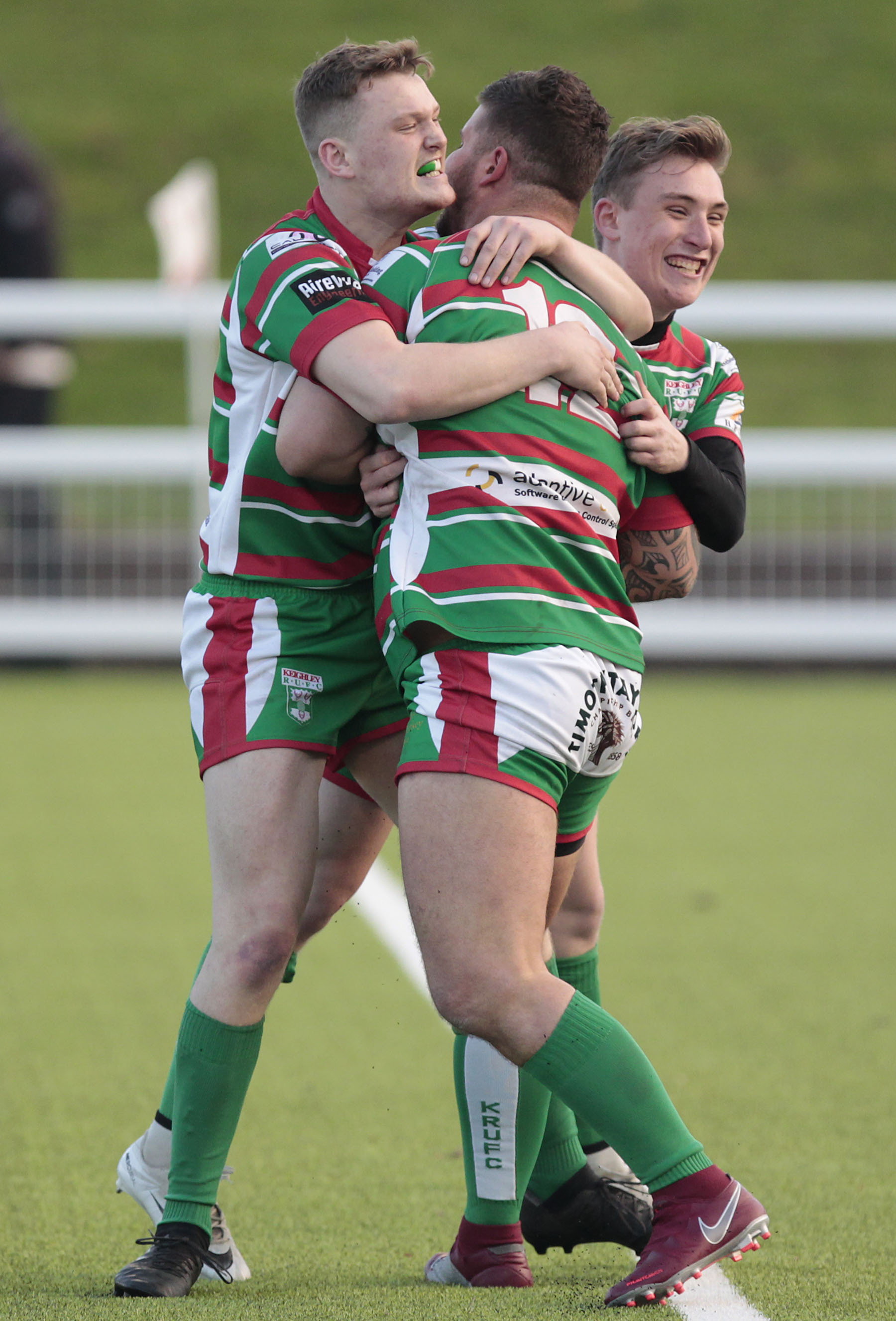 Alfie Seeley, left, scored a try in Keighley's defeat at Beverley. Picture: Charlie Perry