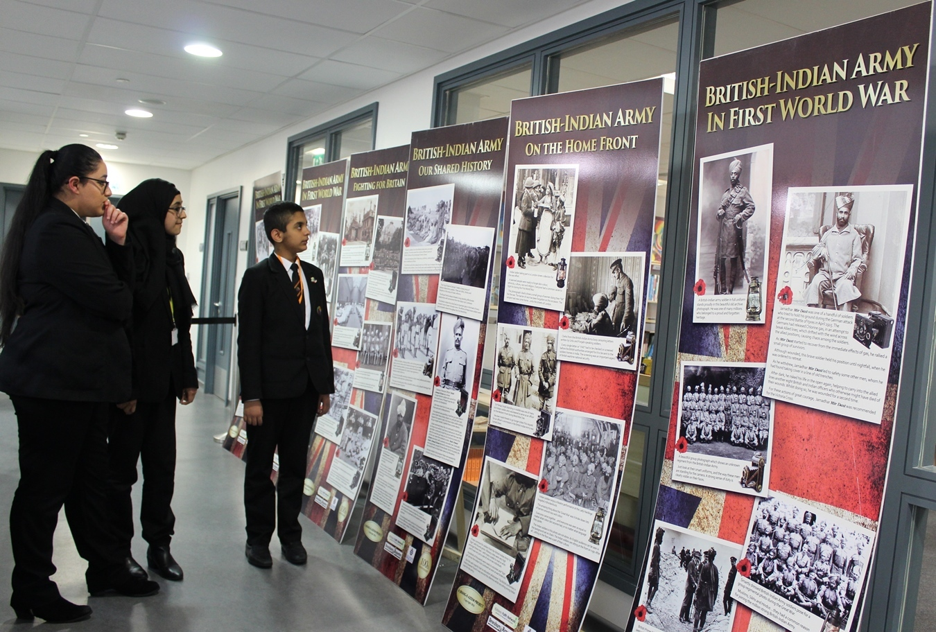 University Academy Keighley finding out about the role of the British-Indian Army in the First World War