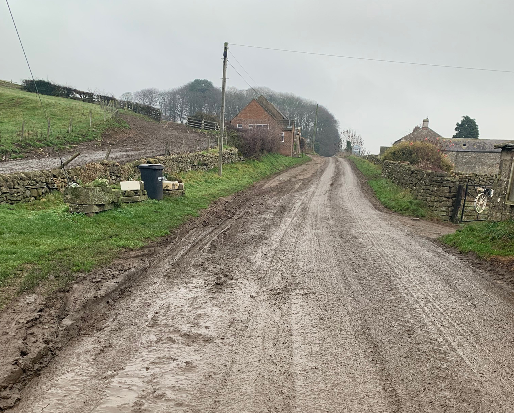 Mud on the roads has sparked safety fears