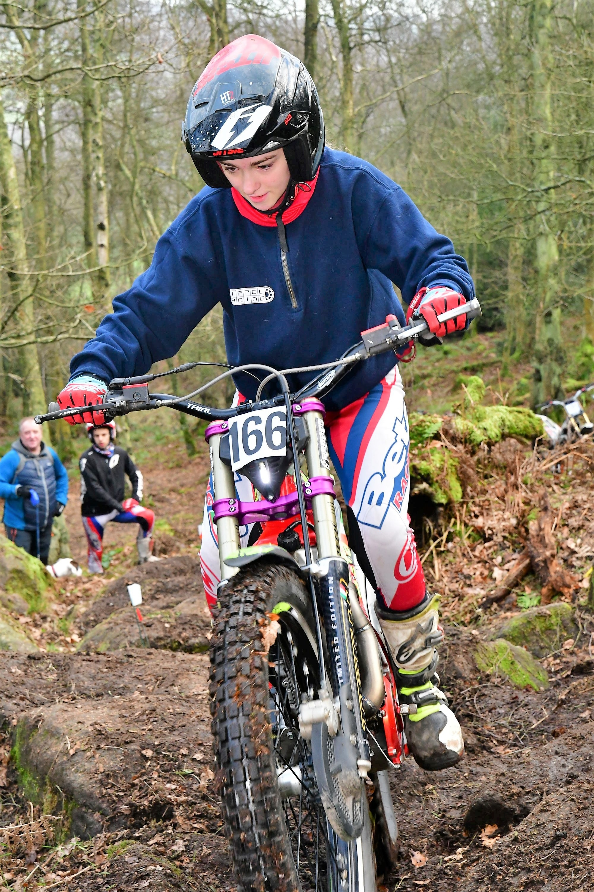 Gabby Whitham, of Silsden, rides in the New Year's Day trial at Bingley. Picture: Barry Robinson