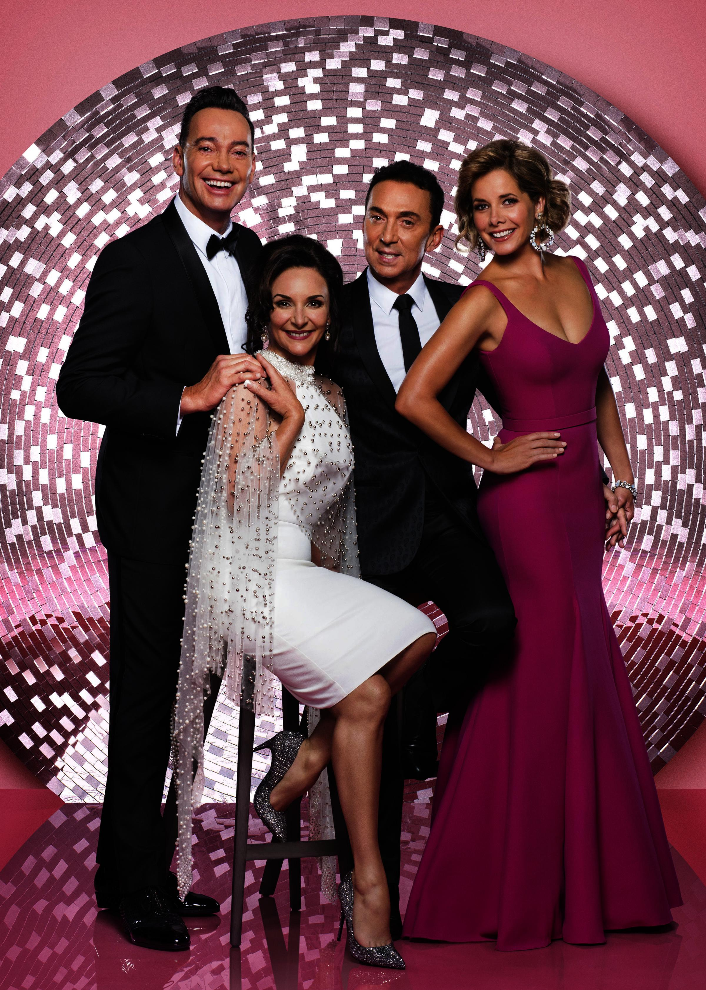 Strictly Come Dancing arena tour judges Craig Revel Horwood, Shirley Ballas, Bruno Tonioli, Dame Darcey Bussell. Picture by BBC/ Ray Burmiston