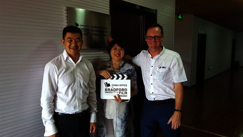 Opening of Bradford City of Film office in Qingdao