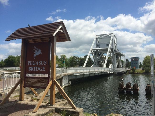 Today's Pegasus Bridge, in Normandy, the location of a daring airborne operation in 1944