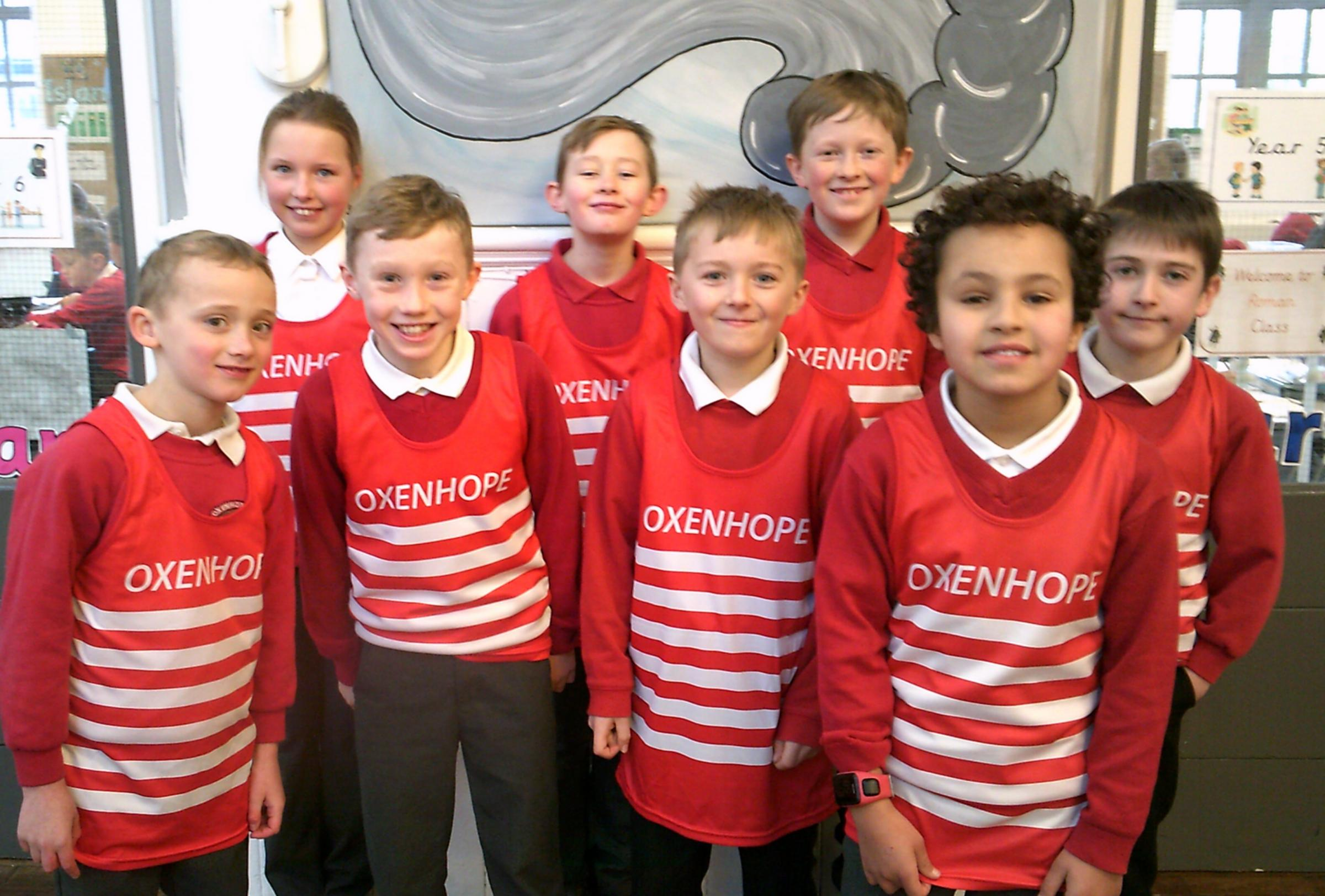 Oxenhope Primary cross country runners, who have made it to the West Yorkshire Schools Finals