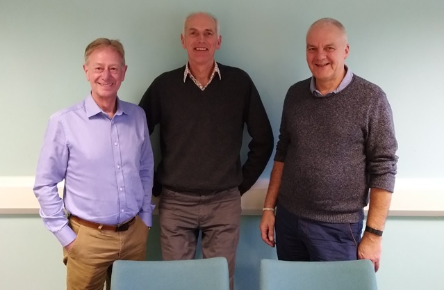 From left, Chris Drury, Andrew Brook and Chris Melia