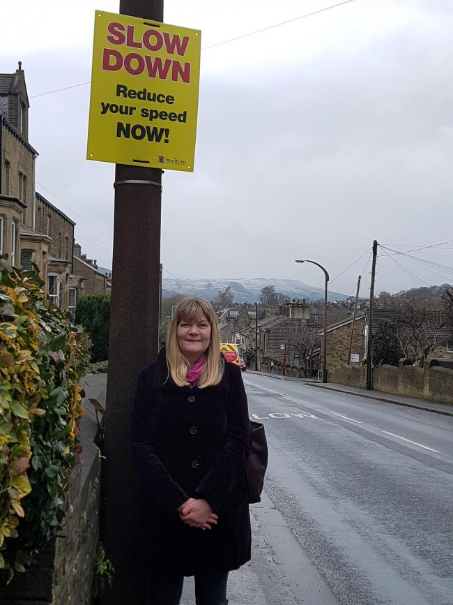 Rebecca Whitaker was one of the councillors who walked around Silsden suggesting tweaks to social distancing signs