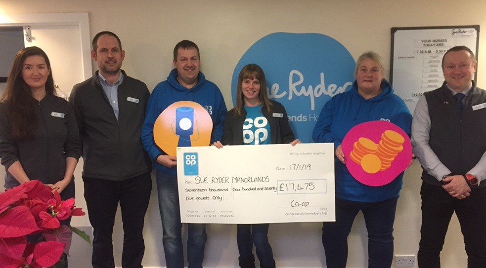 Co-op stores give bumper boost to Manorlands hospice