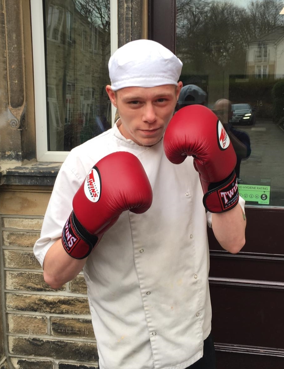 Scott Porter, who is competing in an Ultra White Collar Boxing event