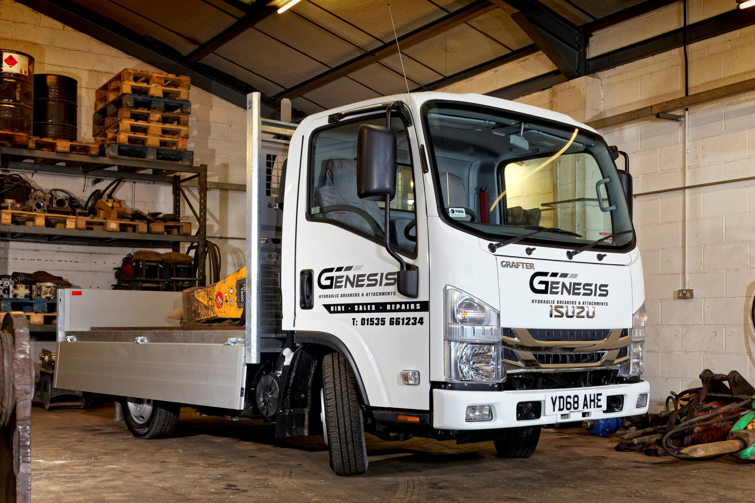 The latest Isuzu Grafter to join the company's fleet