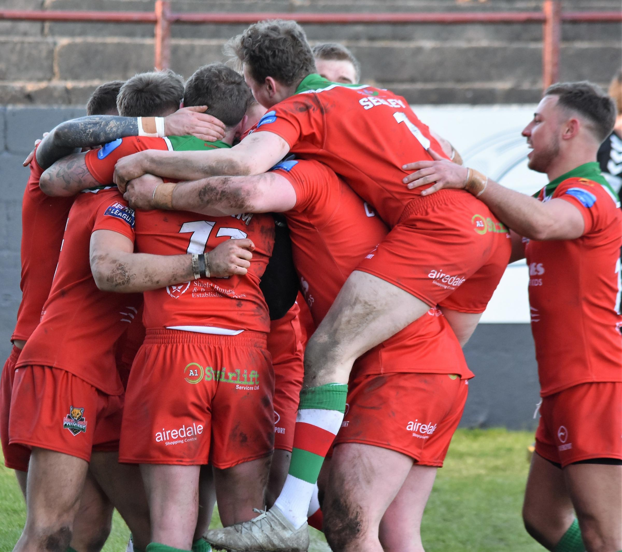 Cougars hope to be celebrating when they host Coventry Bears in Betfred League One on Sunday. Picture: Ben Challis
