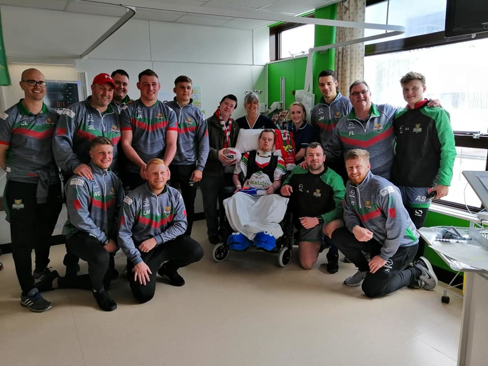 Members of Keighley Cougars first-team squad paid a visit to Airedale Hospital