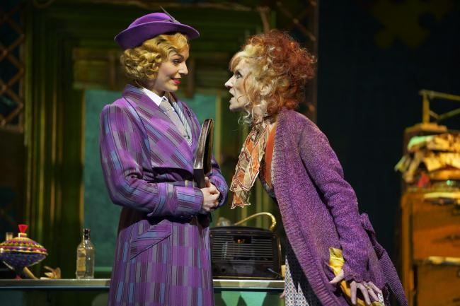 Anita Dobson in a scene from the musical Annie which is coming to Bradford Alhambra
