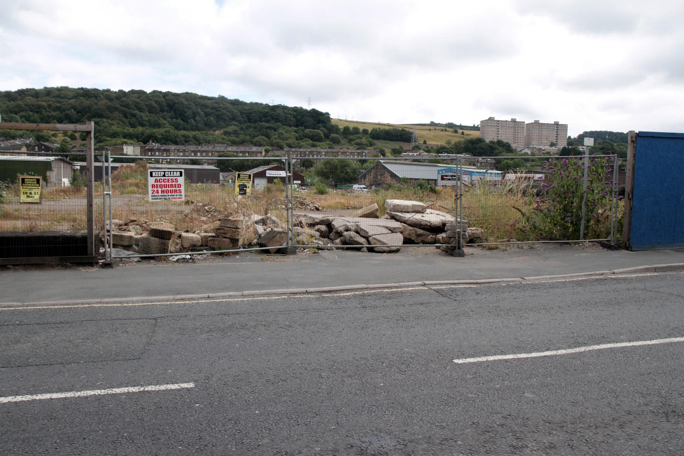 The derelict site in East Parade, Keighley