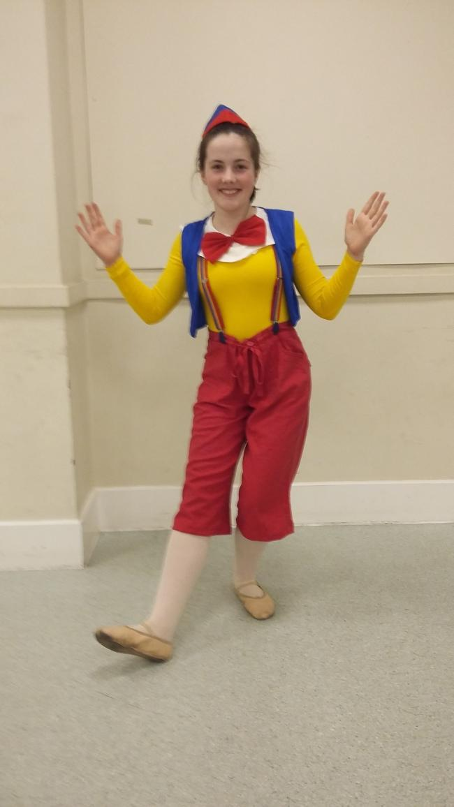 Rachel Smithies played Pinocchio in last year's Elizabeth Phillips School of Dance show.
