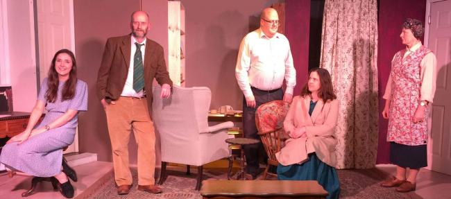 Members of the cast of Skipton Players'latest play Intent to Murder