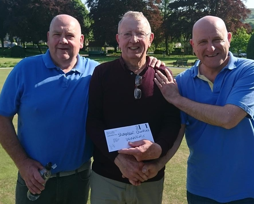 Les Foster, right, has made a good start to the season by qualifying in the Hillcrest Classic