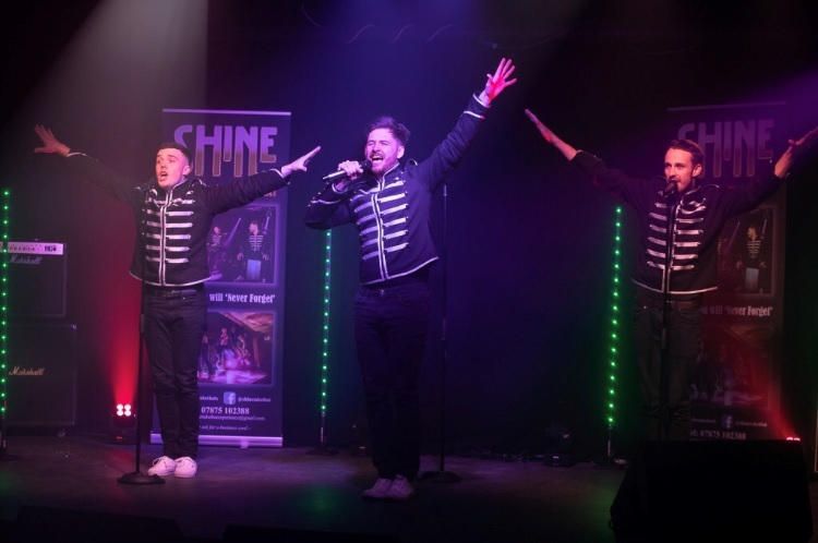 Take That tribute band Shine are playing Saltaire