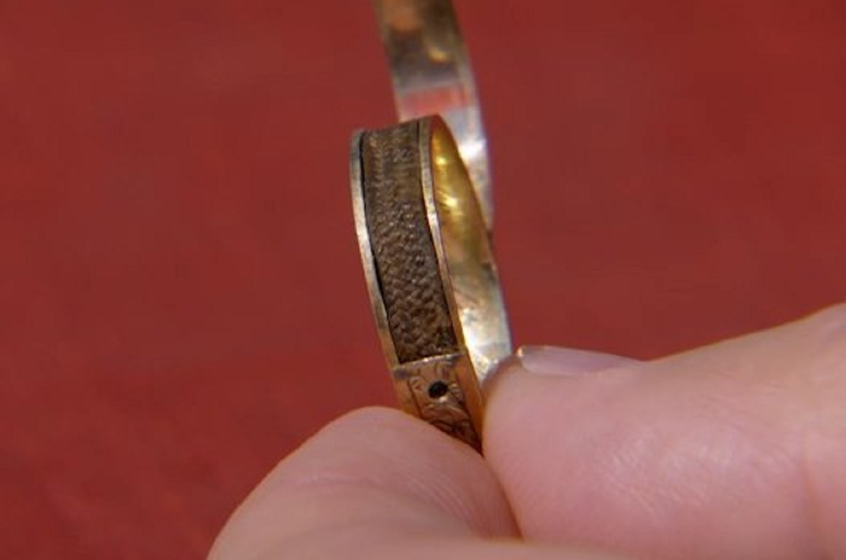 The ring believed to contain a lock of Charlotte Bronte's hair
